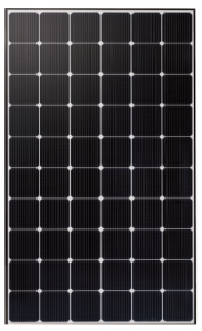 LG Neon solar panel with 315 watts and black frame