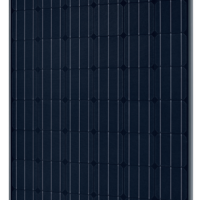 SolarWorld Sunmodule Plus 285 watt monocrystalline panel with black frame and black background (BOB)