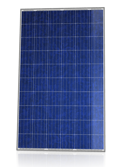 CS6K-280M solar panel with black frame on white backsheet