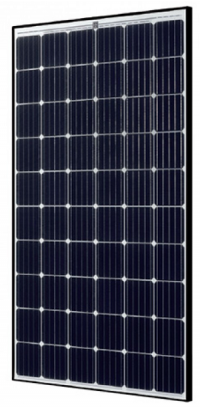 295 watt mono solar panel from SolarWorld with black frame on white backsheet (BOW)