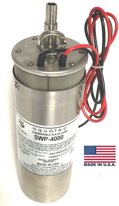 Aquatec SWP-4000 solar DC submersible well pump