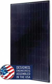 Mission Solar MSE295 watt panel, black on black
