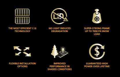Advantages of REC NP panel