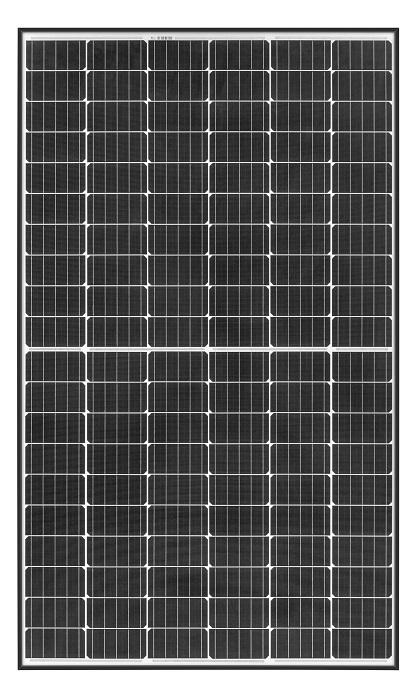 REC N Peak panel with black frame and 120 half cut cells
