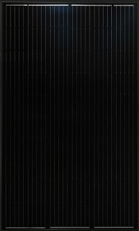 Black frame and backsheet solar panel suitable for wide range of applications; 310 watts