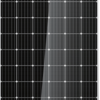 Clear frame on white backsheet, 72 cell mono panel with 375 watts power from Trina Solar