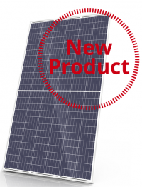Monocrystalline panel from Canadian Solar KuPower series with black frame and white back sheet