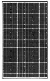 REC TwinPeak2M solar PV panel with black frame and 120 half cut cells