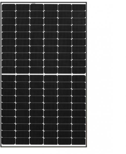 REC365A Alpha Series module with black frame on white backsheet